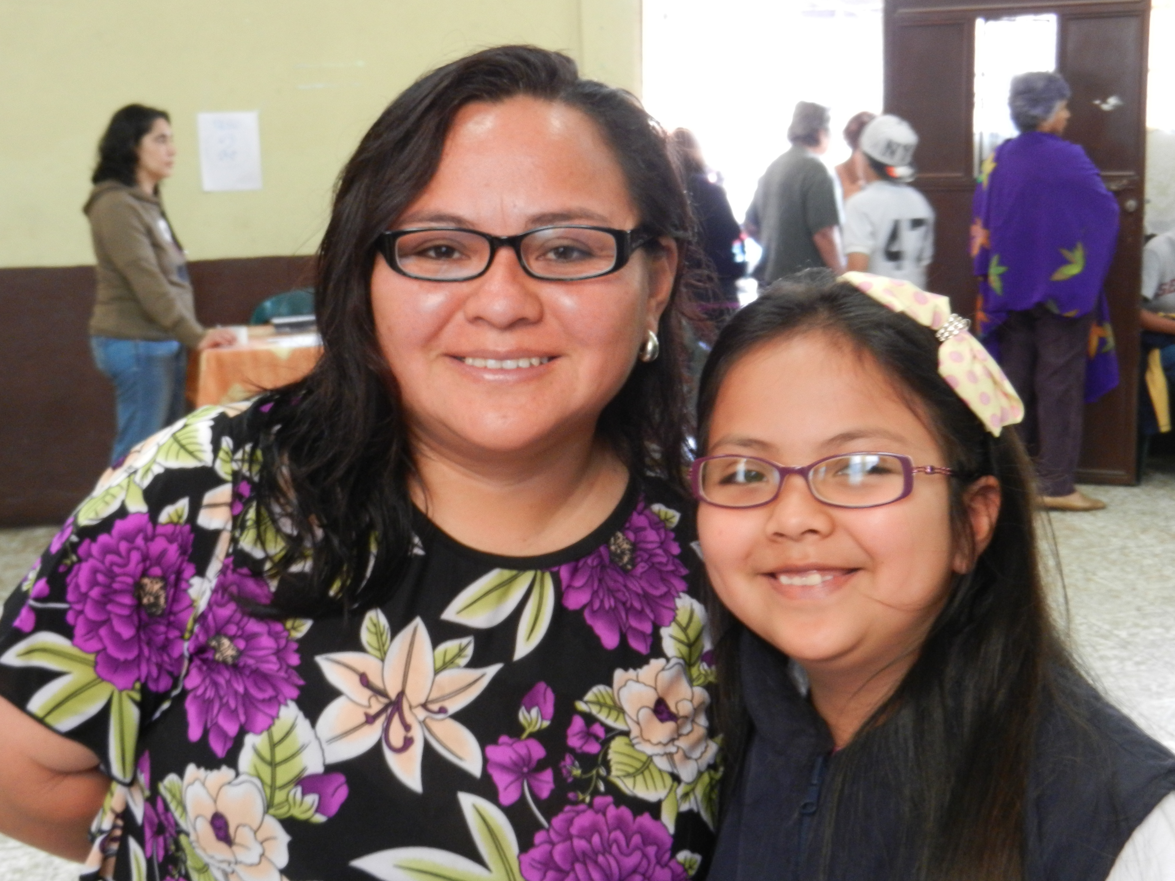 A mother and her daughter who were provided with glasses during Glasses for Guatemala's third service trip. (2015)