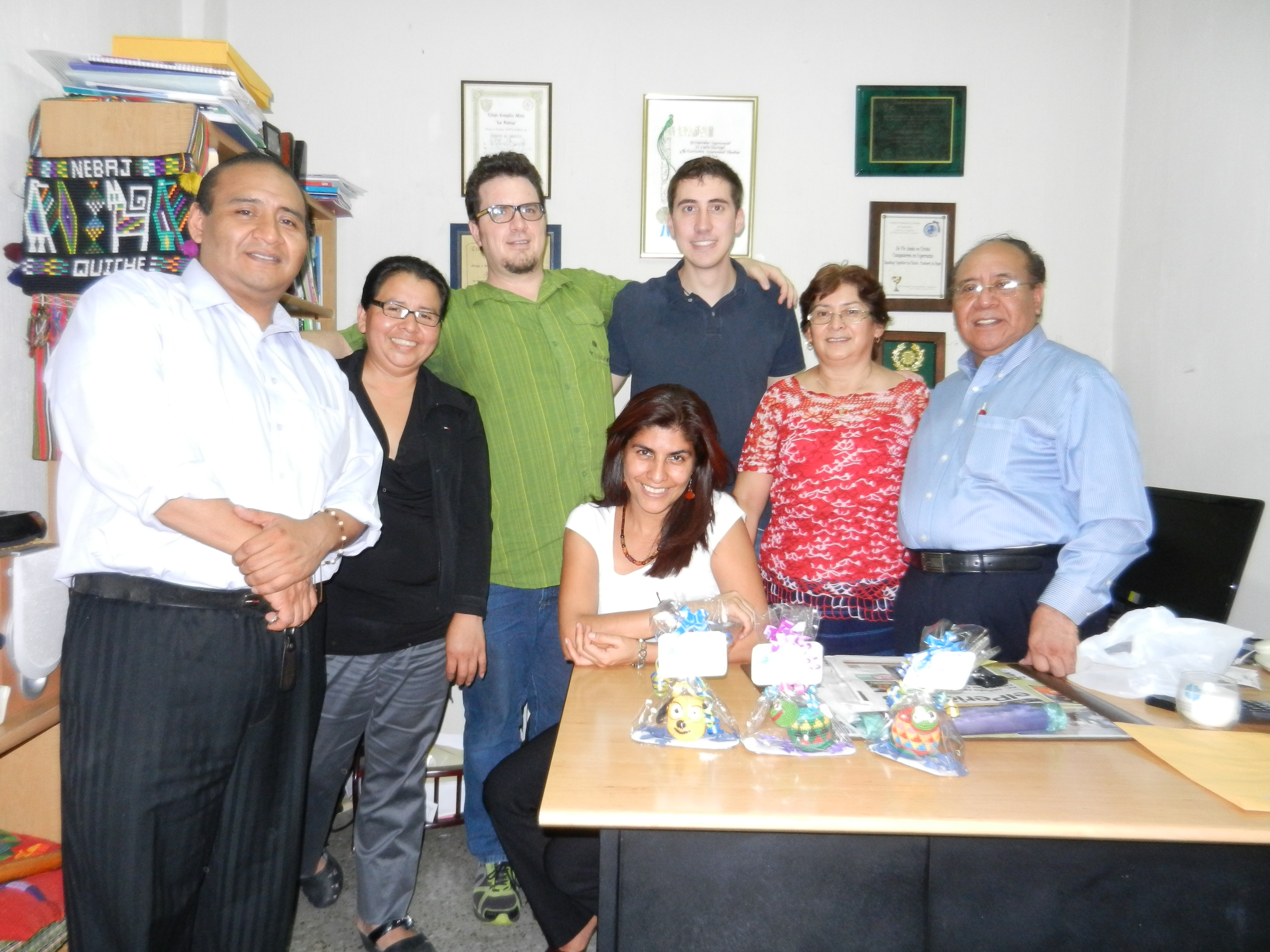Warren and I with the members of the Concejo Ecuménico team.<br>From left to right: Bairon, Ana Maria, Warren, Garred, Mayra, Nora, and Vitalino<br>Not pictured: Misael.